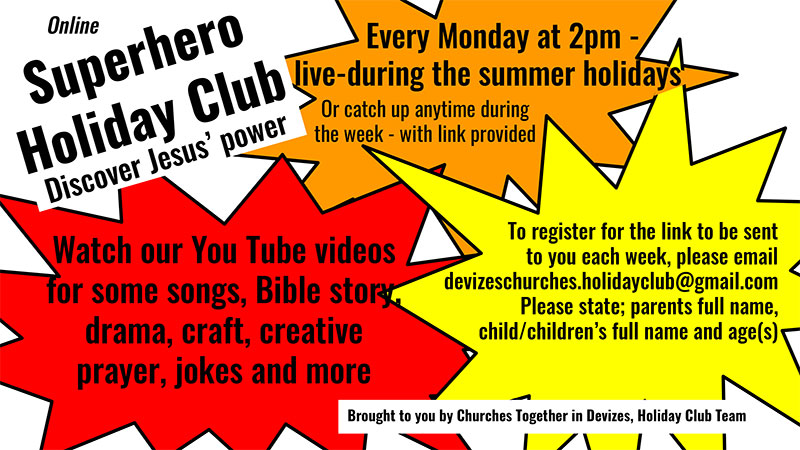 For Children - Devizes Holiday Bible Club